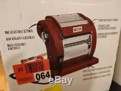120 Volt Red Countertop Metal Electric Pasta Noodle Machine Maker