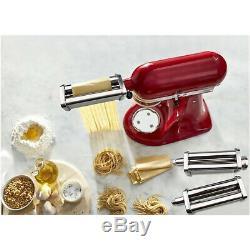 3pcs Steel Pasta Maker Machine Roller Cutter For Kitchen Aid Mixer Attachment