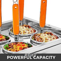 5KW Pasta Maker Machine Commercial 4 Holes Noodles Cooker with Filter Basket