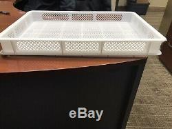 8 White Plastic rack Perforated Stackable Drying Trays for all Pasta Machines