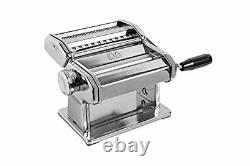 Atlas 150 Pasta Machine, Made in Italy, Includes Cutter, Hand Crank, and