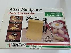Atlas Marcato Multipast Pasta Machine Set Italy Excellent Condition
