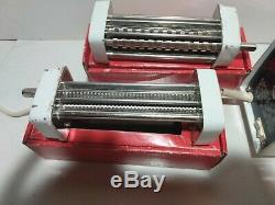 Bialetti Electric Pasta Noodle Maker Machine Italy metal rollers vtg pro chef