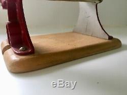 Columbus pasta Machine Vintage 1950 Red with Wood Base like Atlas
