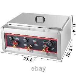 Commercial Electric Pasta Cooking Machine Noodle Boiler 6 Holes Pasta Maker 220V