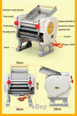 Commercial Home Electric Pasta Press Maker Noodle Machine 3mm Stainless Steel