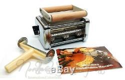 Deluxe Atlas Marcato Pasta Queen Noodle Making Machine with Raviolissima Ravioli