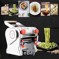Electric Noodle Machine Pasta Press Maker Dough Knife 24cm+2/6mm Cutter 110/220V