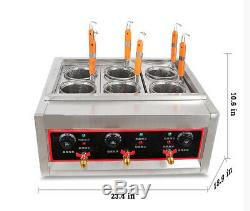 Electric Pasta Cooker Noodles Cooker Electric Pasta Cooking Machine 6 Holes 220v