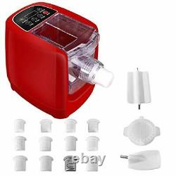 Electric Pasta Makers, Home Automatic Noodle Extruder Machine, 12 Noodle Red