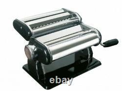 GEFU Pasta Perfetta Nero Profi-Pasta Machine Silver/black Free Shipping