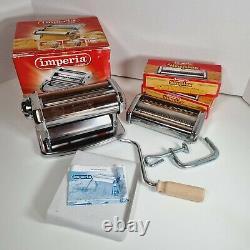 IMPERIA SIMPLEX Manual Pasta Machine + Spaghetti & Capelli d'angele Attachements