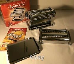 Imperia Italian Dpuble Cutter Pasta Maker Machine Stainless Steel SP150