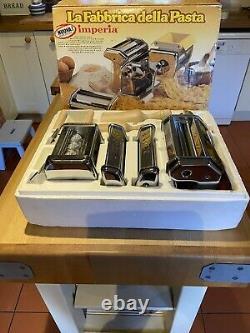 Imperia Pasta Machine Maker Deluxe Complete La fabbrica Della Pasta Factory Set