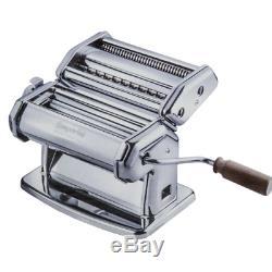 Imperia Pasta Maker Machine Heavy Duty Steel Construction w Easy Lock Dial