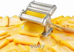 Imperia Pasta Maker Machine Heavy Duty Steel Construction w Easy Lock Dial and
