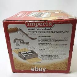 Imperia Pasta Maker Machine Model SP-150 Made in Italy Heavy Duty Steel
