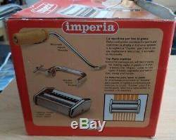 Imperia Pasta Maker Machine SP150 Stainless Steel, Genuine Italy made, NEVER USED