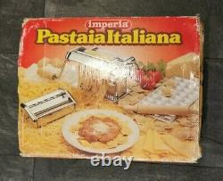 Imperia Pasta Ravioli Roller Maker Machine Set Pastaia Italiana