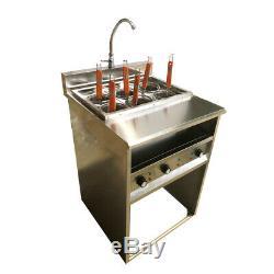 Intbuying Desktop 6 Holes Noodles Cooker Machine 220V 6KW 30A