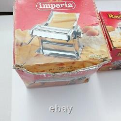 Lot Imperia Pasta Maker Machine Model 150 Ravioli Simplex Made in Italy steel