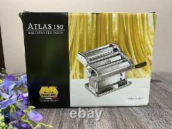 MARCATO ATLAS 150 Wellness ITALIAN PASTA MACHINE Stainless Steel + Bonus