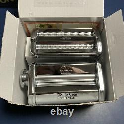 Marcato Atlas 150 Pasta Machine, Includes Ravioli Attachment Cutter & Hand Crank