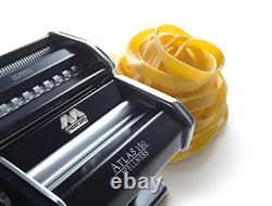 Marcato Atlas 150 Pasta Machine, Made in Italy, Includes Cutter, Hand Crank, and