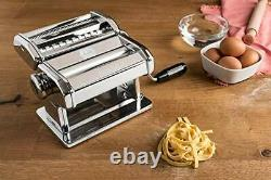 Marcato Atlas 150 Stainless Steel & Aluminium Pasta Machine In Chrome & Silver