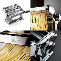 Marcato Atlas 180 Pasta Machine n7995 Manual Chrome UK POST FREE