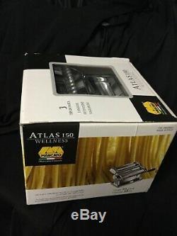 Marcato Atlas Pasta Maker, Stainless Steel, Italian Pasta Machine