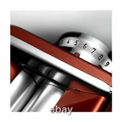 Marcato Kitchen Atlas Pasta Machine 150 Roll Cutter Hand Crank Aluminum Red 8334