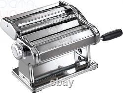 Marcato Manual Pasta Machine with 180 mm Sheet, Chrome Steel, Silver, 24 x