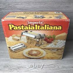 New & Boxed Imperia (Pastaia Italiana) Pasta Making Machine With Inserts