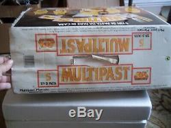 Nib Marcato Multipast Set Machine Makes 5 Kinds Of Pasta + Dough Accessories
