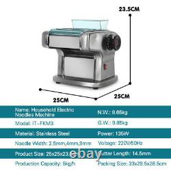 Noodle Cutting Machine Pasta Maker Dough Press 3 Styles Blade Stainless Steel