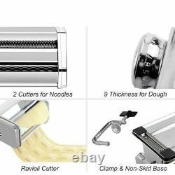 Noodle Pasta Maker Stainless Steel Nude ln Machine Lasagne Spaghetti Tagliatelle