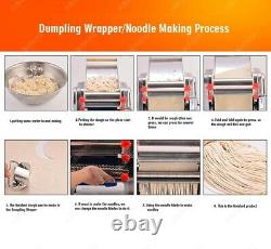 Noodle pasta maker machine with changeable dough roller and blade electric