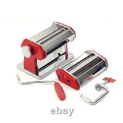 Norpro 1049R Pasta Machine Silver Red with Pasta Machine Motor