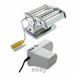 Norpro 1049 Pasta Machine Silver with Pasta Machine Motor