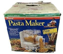 Open Box Popeil Automatic Pasta Maker Machine Recipe Book Accessories Dyes