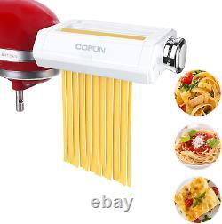 Pasta Maker Attachment for Kitchenaid Stand Mixer, Cofun 3 in 1 Pasta Machine As