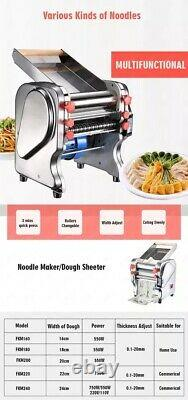 Pasta maker machine with changeable dough roller and blade electric