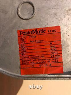 Rare Simac PastaMatic 1400 Pasta Bread Dough Maker Machine Made in Italy