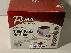 Roma by Weston Tube Pasta Machine 5 Pasta Discs Dough Mixing Kit Penne Rigatoni