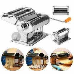 Stainless Steel Pasta Maker Machine Tagliolini Fettuccine Lasagne Cutter Roller