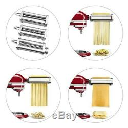 Steel DIY Pasta Maker Machine Roller Cutter For Kitchen Aid Mixer Attachment