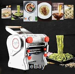 US 110V Electric Pasta Press Maker Noodle Machine Dumpling Skin Home Commercial