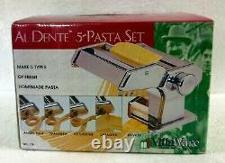 VillaWare Al Dente Pasta Machine No. 178 With Attachments 5 Types of Pasta
