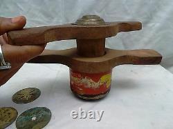 Vintage Indian wooden Manual Pasta Noodle Machine Maker, Noodle Maker Machine